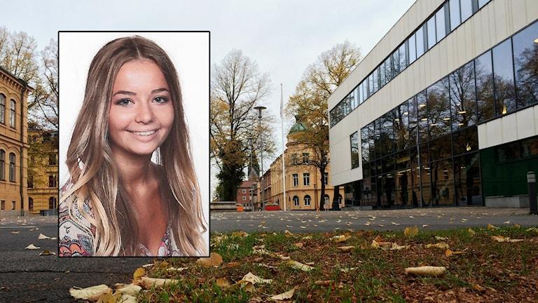 Skaraborgs tingsrätt. Lisa Holm infälld. Foto: Privat / Mats Öfwerström / Sveriges Radio