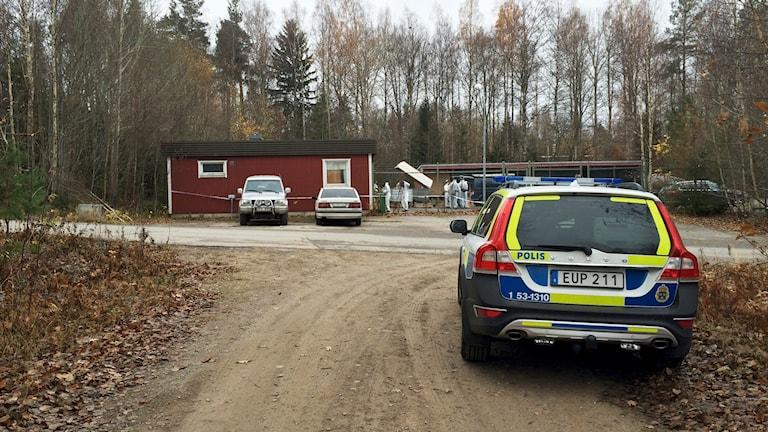 I den här fastigehten i Undenäs tros stora mängder cannabis ha producerats. Foto: Mats Öfwerström / Sveriges Radio
