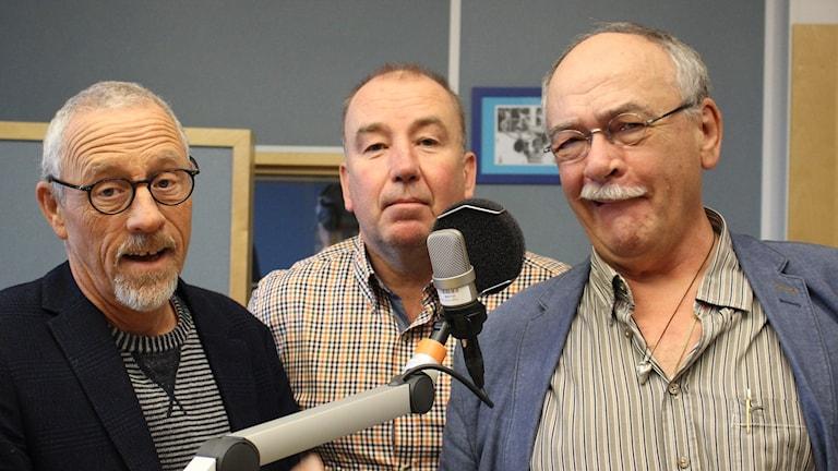 Jojje Jönsson, Stefan Gerhardsson och Jan Holmqvist. Foto: Malin G Pettersson/Sveriges Radio.