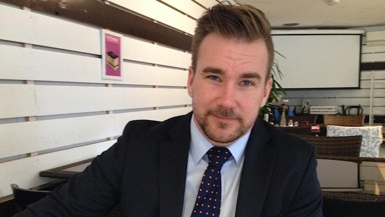 Kristian Johansson, biträdande chef på Svenskt Näringsliv i Västra Götaland. Foto: Linnéa Frimodig/ Sveriges Radio