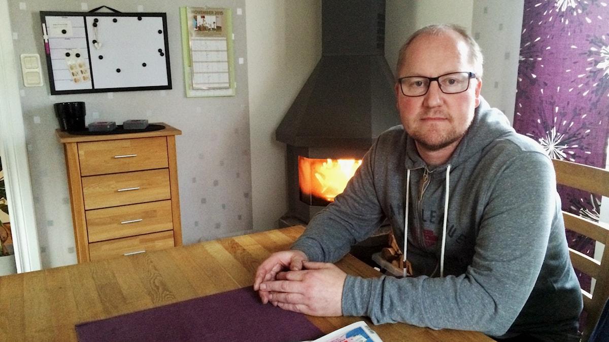 För tio månader sedan sköts Niclas Blomqvist av en rånare. Foto: Mats Öfwerström / Sveriges Radio