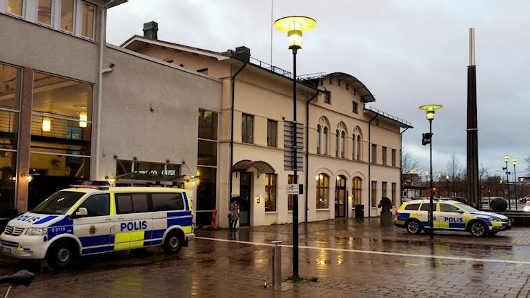 Resecentrum i Skövde på torsdagsmorgonen. Foto: Mats Öfwerström / Sveriges Radio