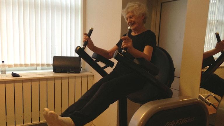 Rosalie Rundblad tränar i Skara. Foto: Jenny Josefsson P4 Skaraborg Sveriges Radio