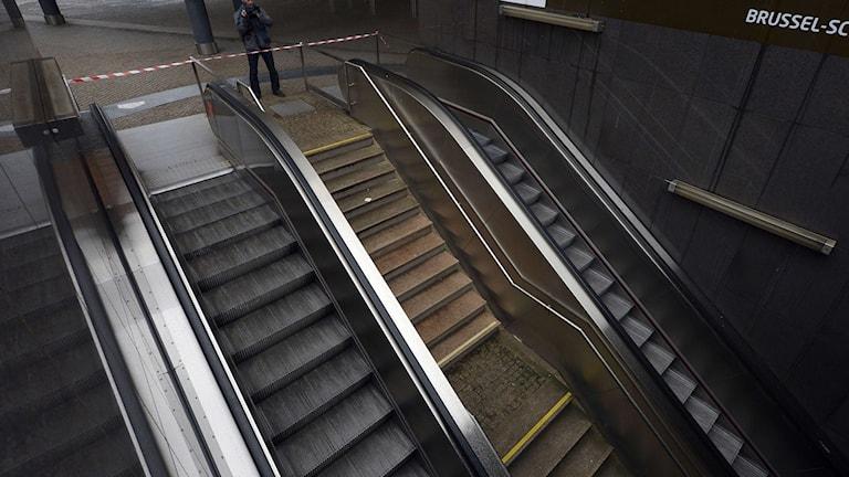 Tunnelbanan i Bryssel är stängd idag. Foto: TT