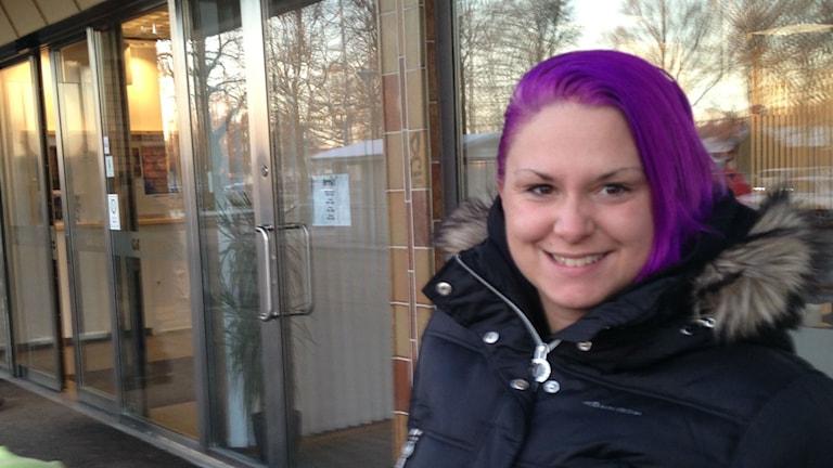 Rebecca Gustavsson i Tibro. Foto: Jenny Josefsson P4 Skaraborg Sveriges Radio