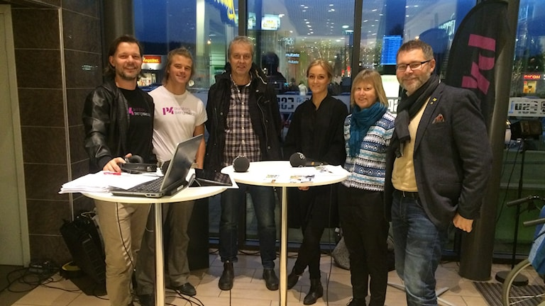 Prat om klimat i P4 just nu. Foto: Sveriges Radio