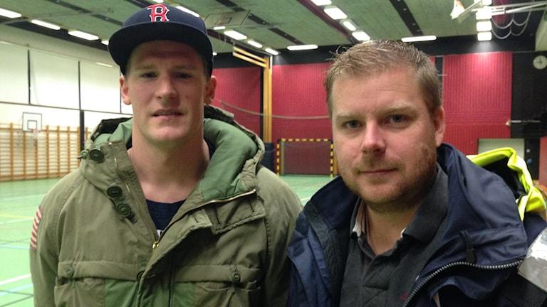 Johan Jansberger och Erik Johansson drog igång innebandyn i Götene, nu tvingas de lägga ner föreningen. Foto: Linnéa Frimodig.
