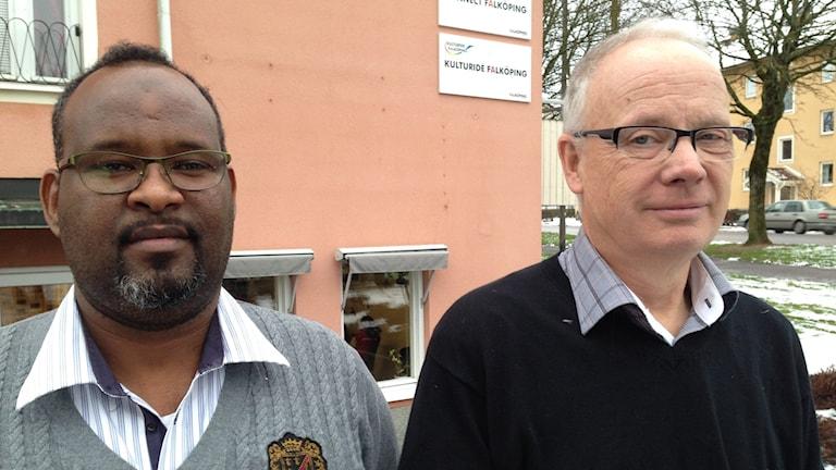 Mohamed Housein och Anders Lundin. Foto: Linnéa Frimodig/ Sveriges Radio