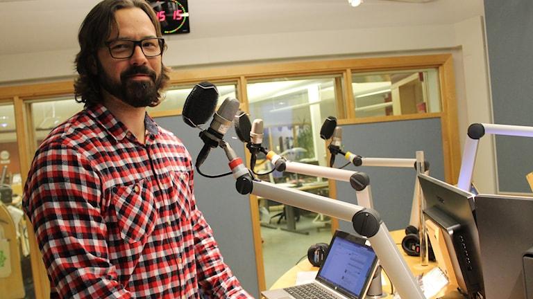 Erik Andersson svarar på frågor och tankar om sport. Foto: Malin G Pettersson/Sveriges Radio