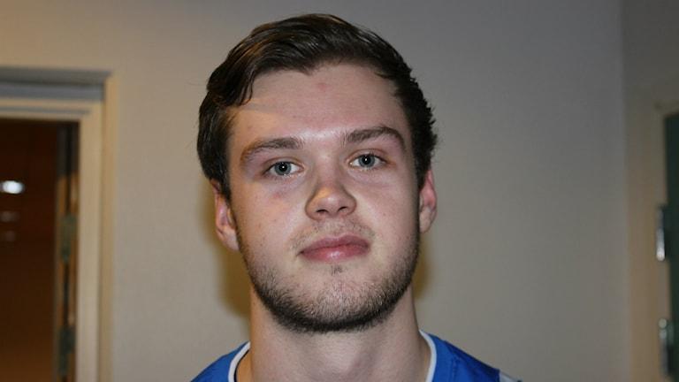 Victor Röxner femmålsskytt i IFK Skövde. Foto Tommy Järlström P4 Sveriges Radio.