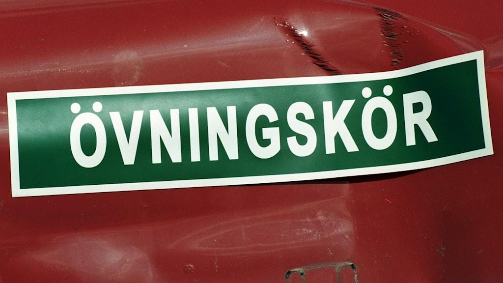 Privat övningskörning Foto: Fredrik Persson/TT