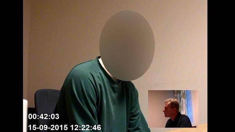35-åringen i polisförhör Foto: Polisen