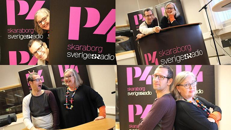 ProgramledarenTorbjörn Borg och domaren Anna-Karin Johnson är tokredo för Vi i femman. Foto: Malin G Pettersson/Sveriges Radio.