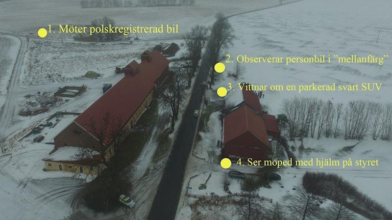 Nya vittnet Billy Bertilssons iaktagelser den aktuella kvällen.  Foto: Fredrik Johansson/Sveriges Radio
