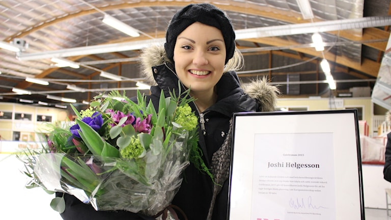 Joshi Helgesson fick Guldtranan 2015. Foto: Malin G Pettersson/Sveriges Radio