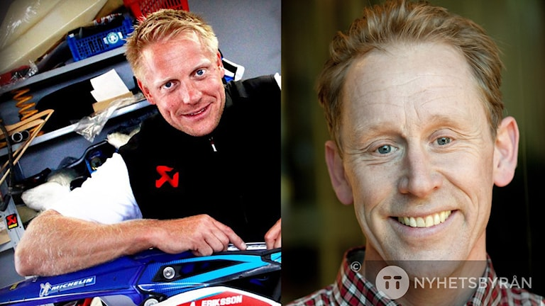 Anders Eriksson dyker upp I huvudet på Gunde Svan. Foto:Sveriges Radio/Henrik Montgomery/TT