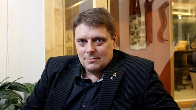 Johan Abrahamsson, (M). Foto: Marie Schnell/Sveriges Radio