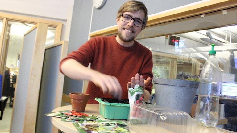Försådd med Anders Stålhand i P4. Foto: Malin G Pettersson/Sveriges Radio