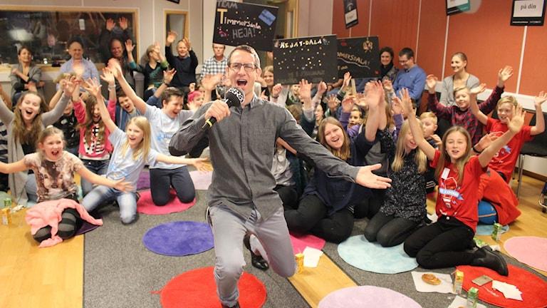 Nu är det dags för Vi i femman. Foto: Malin G Pettersson/Sveriges Radio