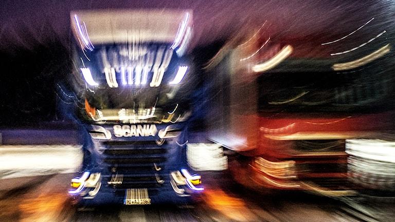 Lastbilar. Foto: Tomas Oneborg TT