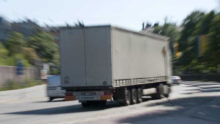 Lastbil på landsväg Foto: Bertil Ericson / TT