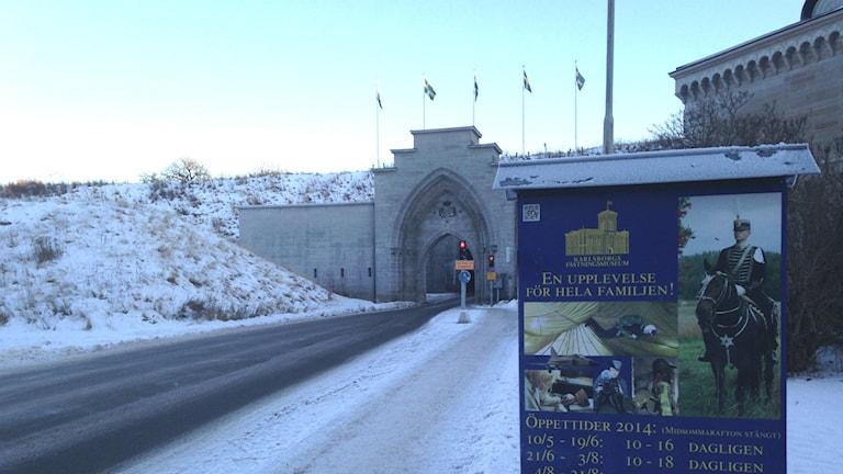 Valvet in till Karlsborgs fästning. Foto: Jenny Josefsson P4 Skaraborg Sveriges Radio