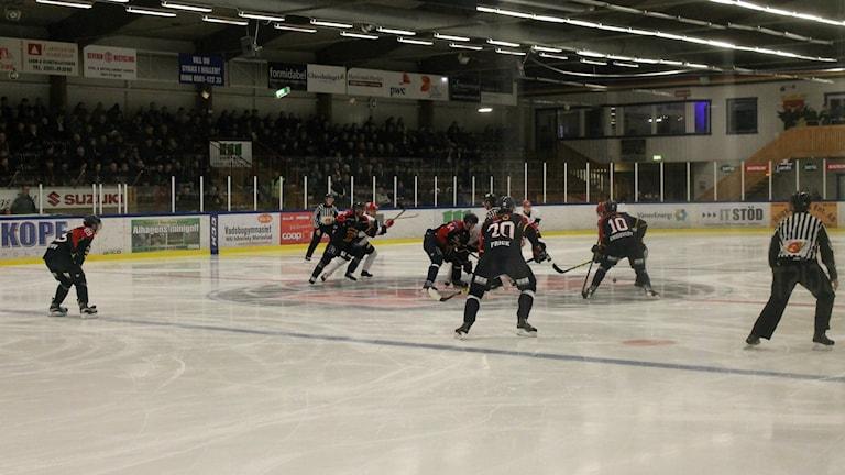 MAriestad BoIS tekar mot Kalix HC. Foto: Andreas Johnsson/Sverigesradio.