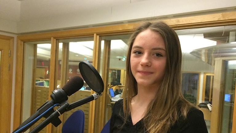 Maja Sanfridsson, 14-årig gymnastiktalang från Skultorp. Foto: Carina Grönqvist P4 Skaraborg.