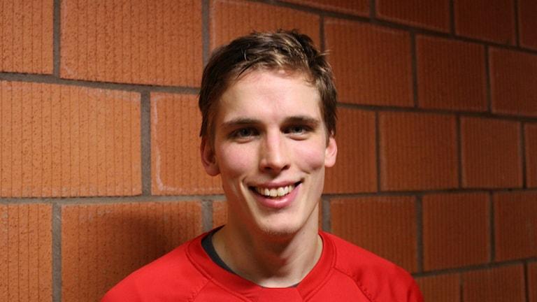 En leende Jesper Hultman efter fyra mål.