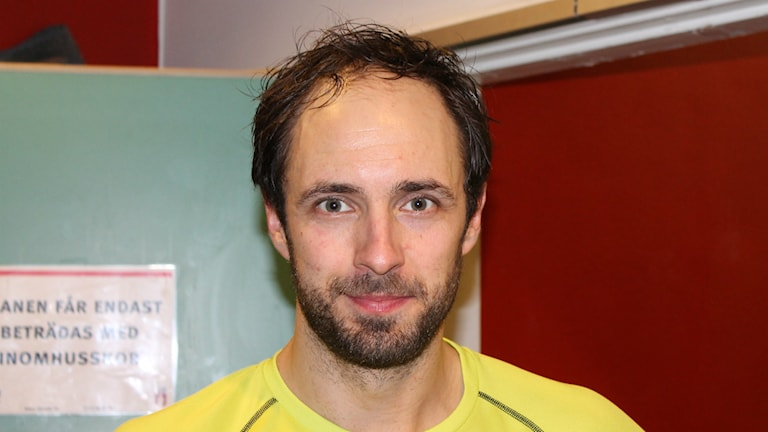 Kristian Svensson, IFK Skövdes sexmålskytt. Foto Tommy Järlström P¤ Sveriges Radio.
