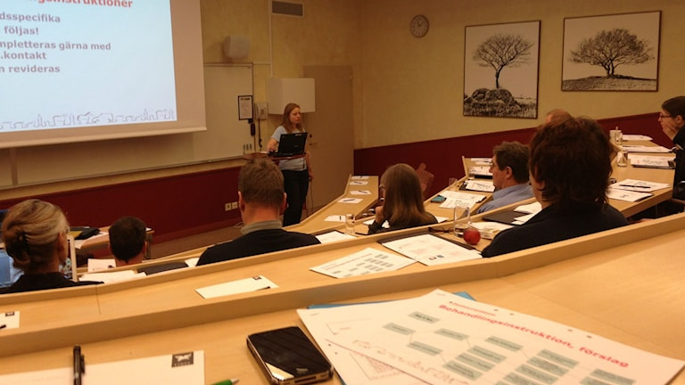 En kurslokal i Skövde. Foto: Jenny Josefsson P4 Skaraborg Sveriges Radio