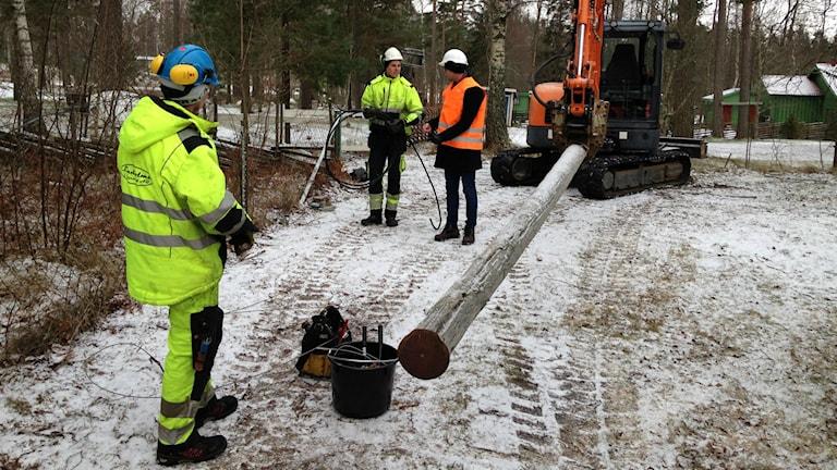 Ombyggnad av elnätet i Böja.