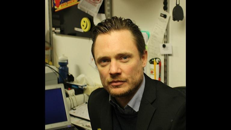 Karl Helmersson, tränare i BoIS. Foto Tommy Järlström P4 Sveriges Radio.
