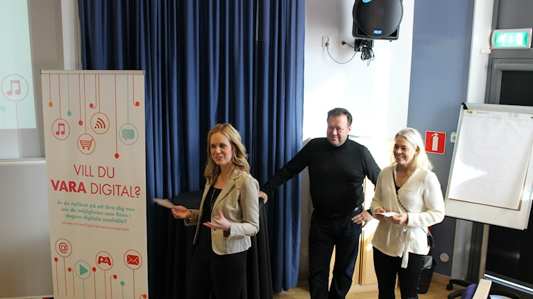 Åsa Kåryd, Fredrik Nelander och Mia Forsäng.