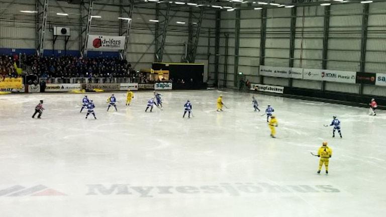 Villa Lidköping vann med hela 8-2 borta mot Vetlanda.  Foto:Tommy Haag/Sveriges Radio