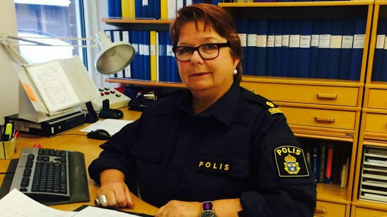 Yvonne Kärnheim Bengtsson är polisfackets ordförande i Skaraborg. Foto: Privat