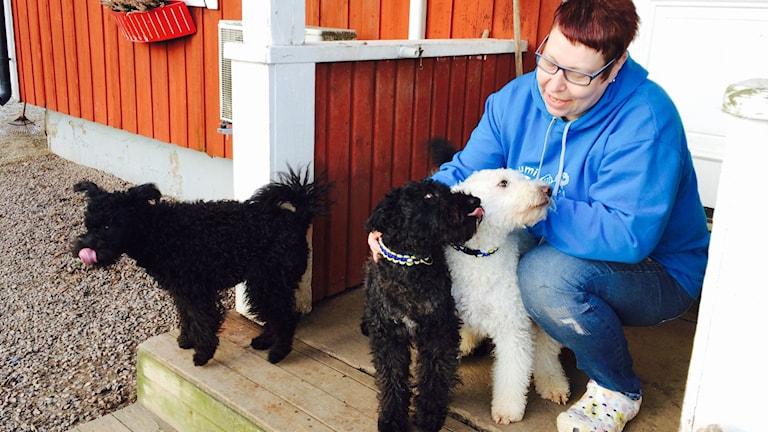 Två av Eva Granaths hundar ställs mot världseliten i England.