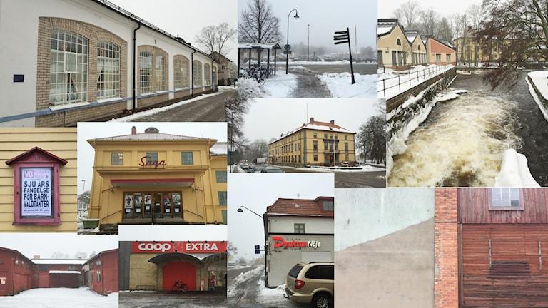 Ett collage av bilder från Tidaholm.