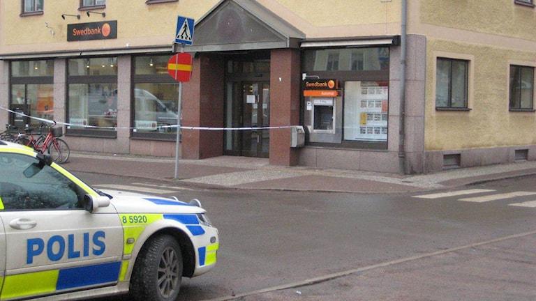 Rånat bankkontor i Hjo