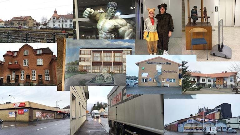 Flera bilder från Grästorp i ett montage.