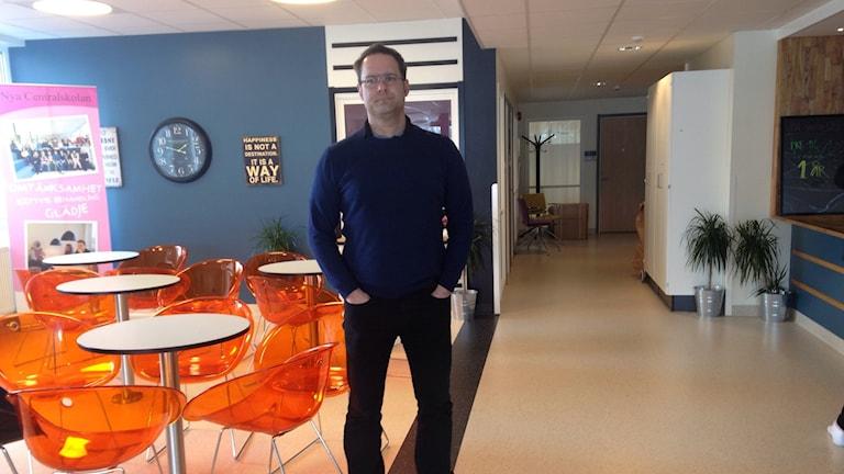 Gabriel Hukvist, rektor på Nya centralskolan.
