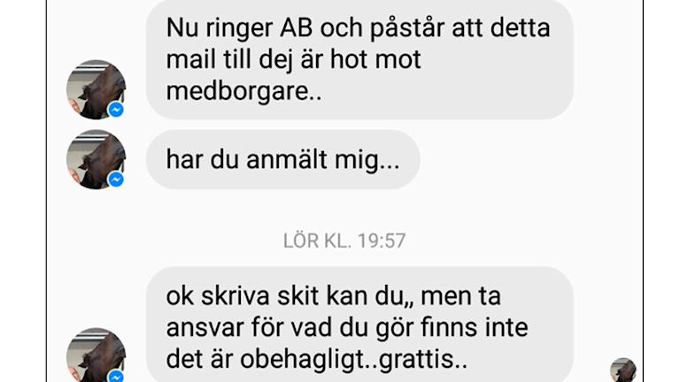 Kjell Hedvall skickade meddelande till Vanja efter att Aftonbladet publicerat sin artikel.