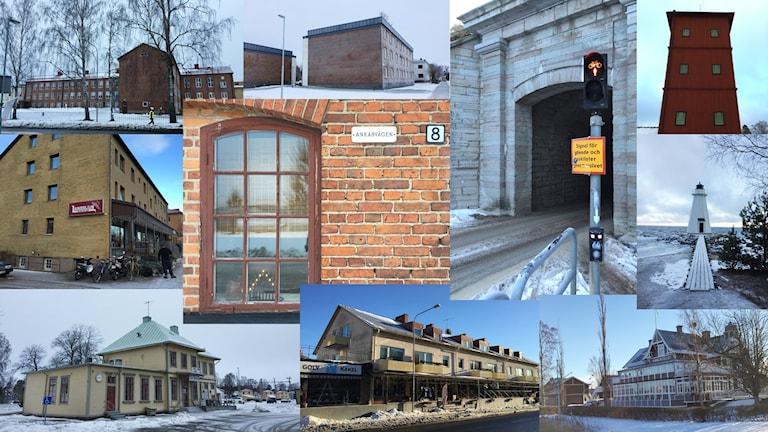 Flera bilder från Karlsborg samlat i ett montage.