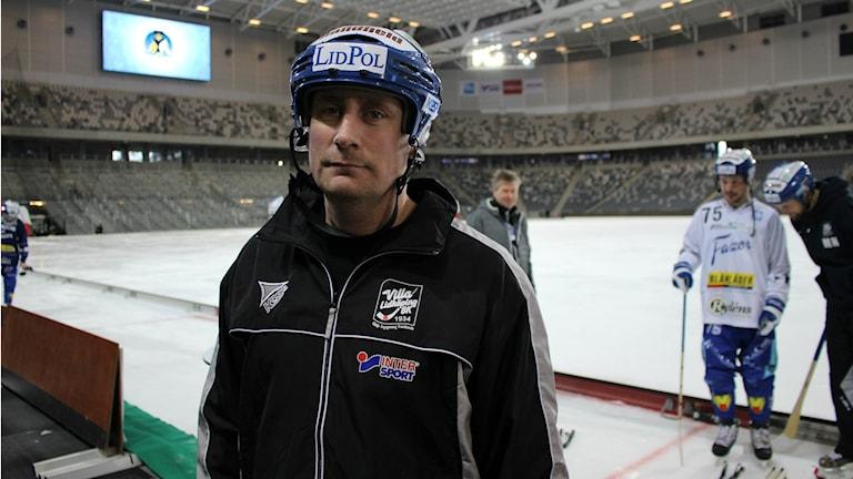 Johan Sixtensson under Villa Lidköpings sista träning.
