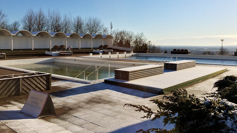 Badet uppe vid Billingehus.
