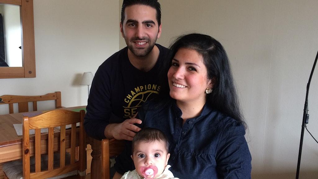 Farah och Ahmad flydde från kriget i Syrien och bor nu i Karlsborg.