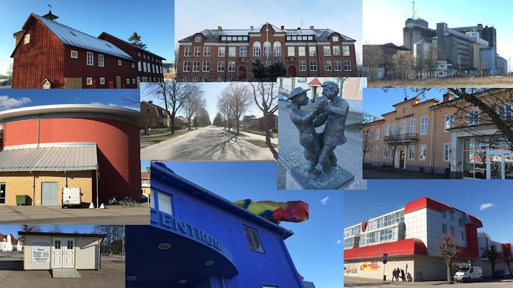 Montage av bilder från Vara