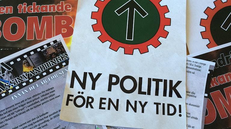 Högerextrema flygblad från Nordiska motståndsrörelsen