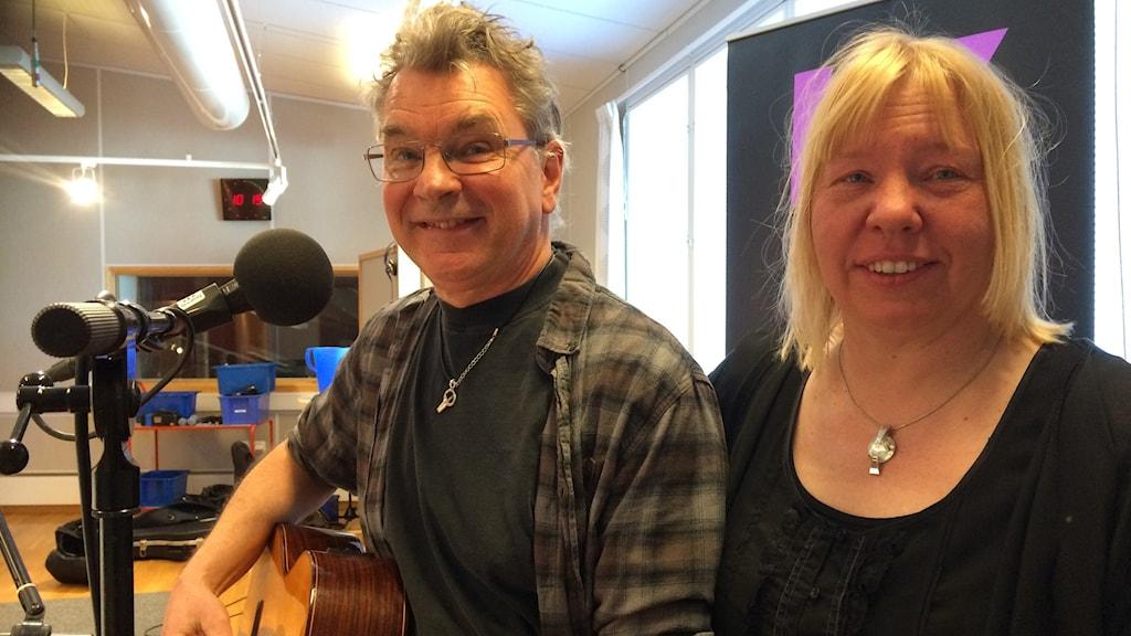 Gunnar Törngren och Ingela Alfredsson, Visans vänner.