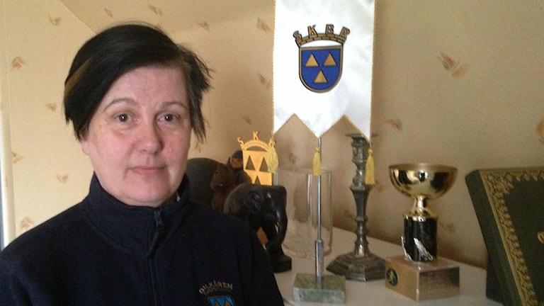 Susanne Klaar ordförande i Bilkåren Skaraborg. Foto: Jenny Josefsson P4 Skaraborg Sveriges Radio